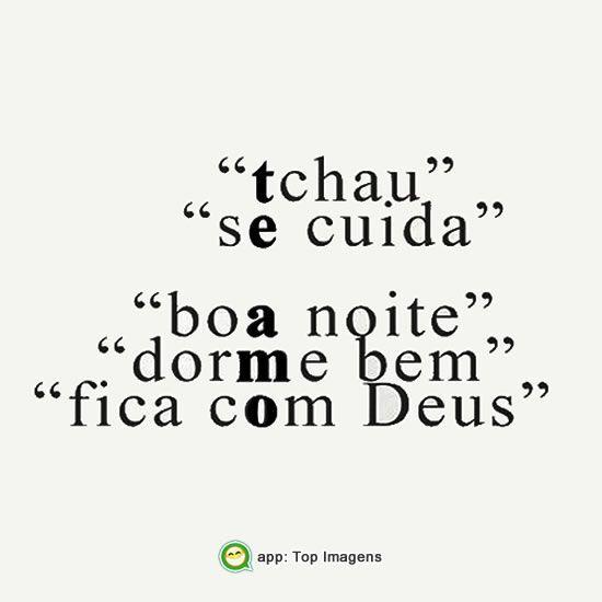 Fica com Deus