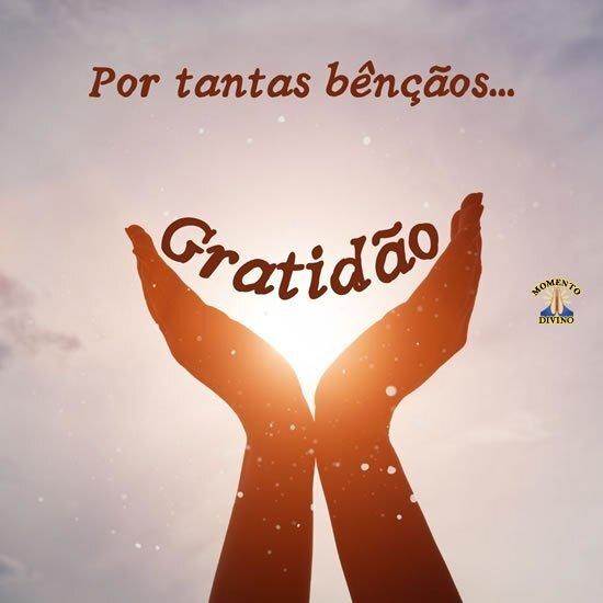 Gratidão pelas bençãos