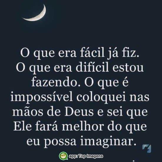 Impossível está nas mãos de Deus