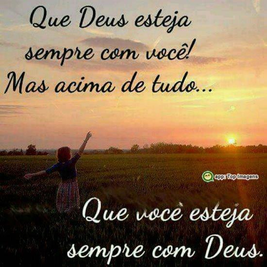 Que Deus esteja com você