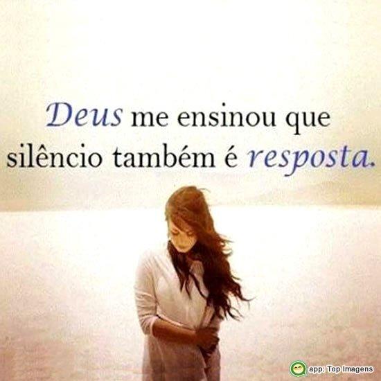 Silêncio também é resposta