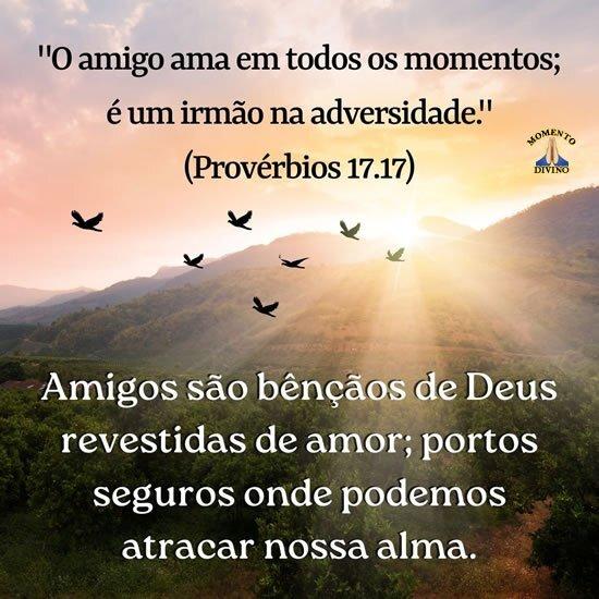 Amigos são bênçãos de Deus