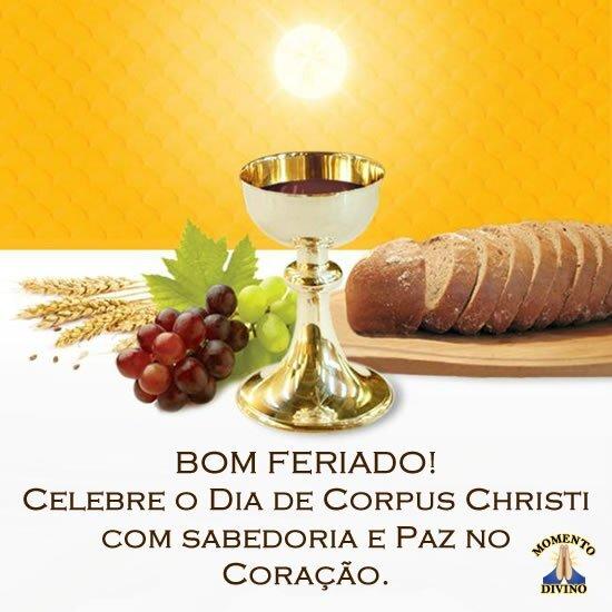 Bom feriado de Corpus Christi