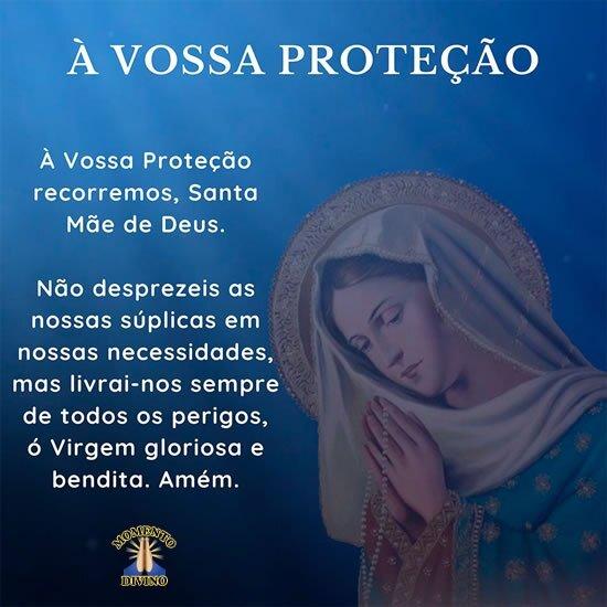 Oração à vossa proteção