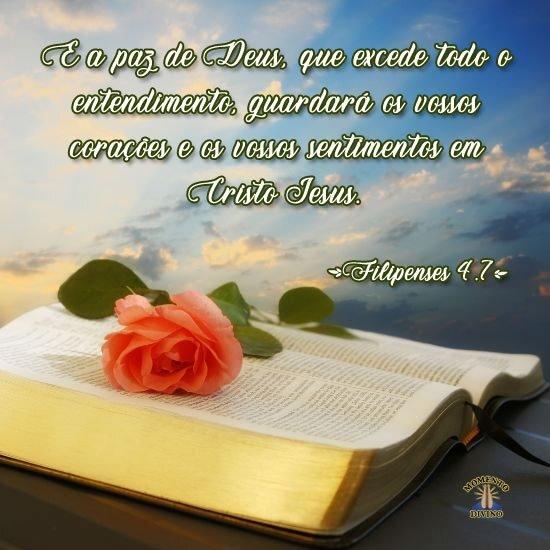 E a paz de Deus...