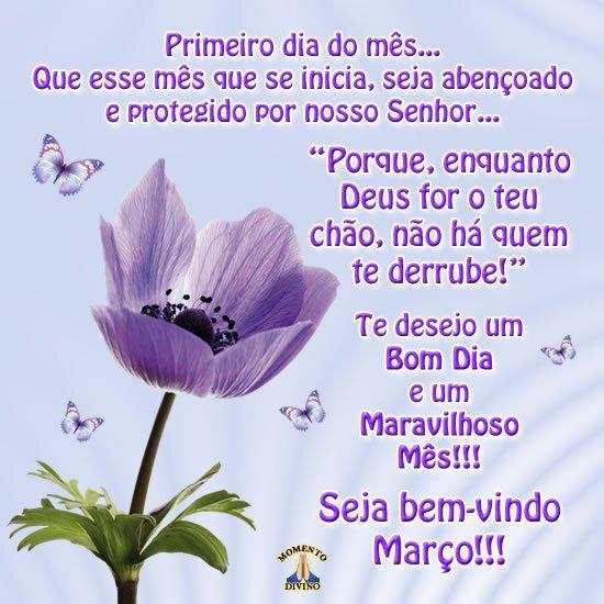Seja bem-vindo Março!!!