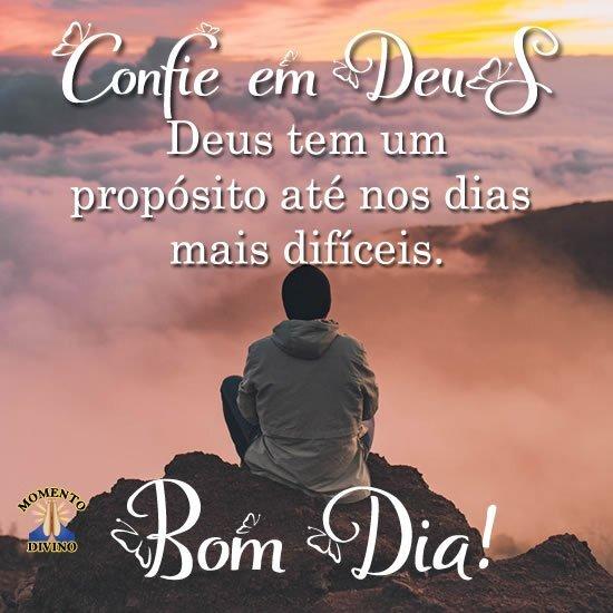 Bom dia, confie em Deus