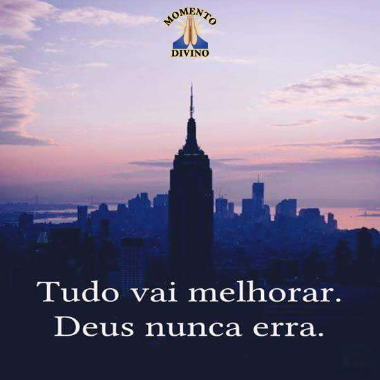Deus nunca erra...