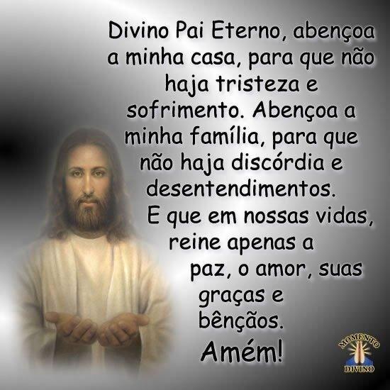 Divino Pai Eterno, abençoa...
