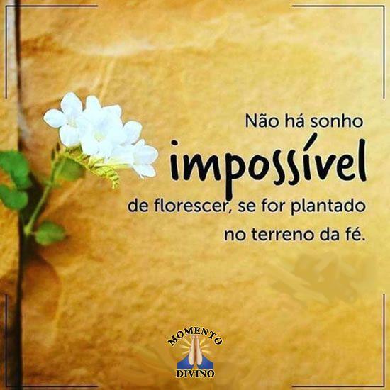 Não há sonho impossível