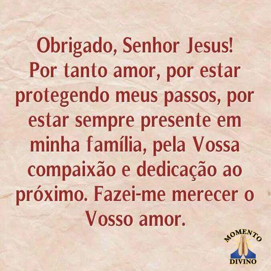 Obrigado, Senhor Jesus!
