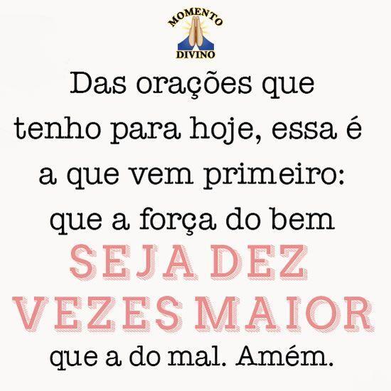 Oração de hoje