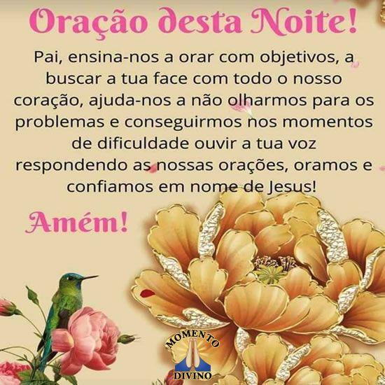 Oração desta noite!