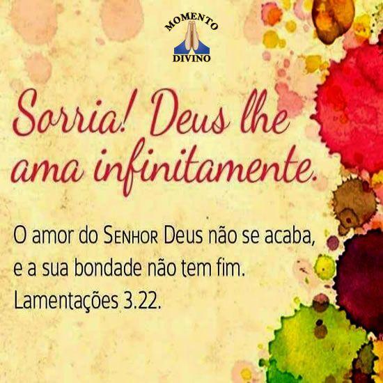Deus lhe ama infinitamente