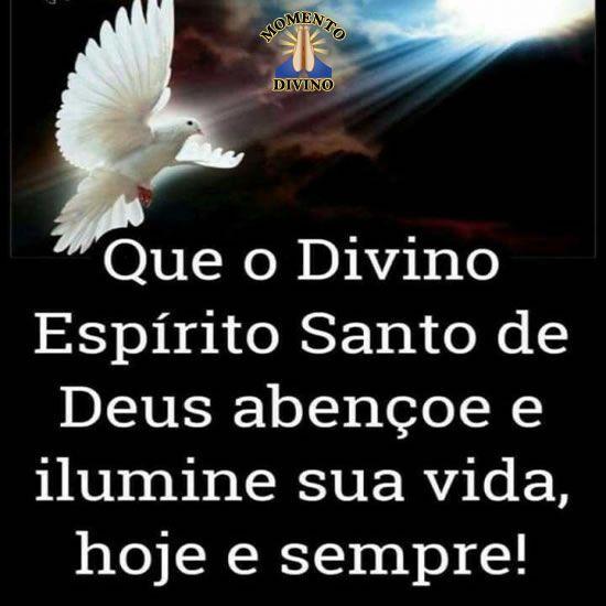 Que o Divino Espírito Santo te ilumine
