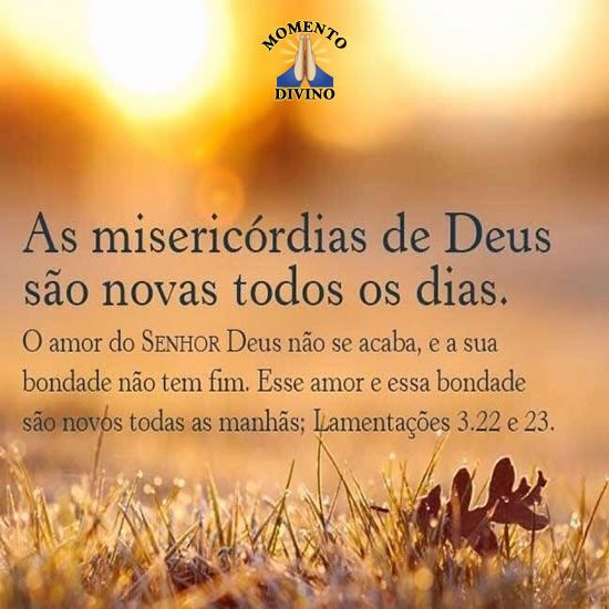 As misericórdias de Deus
