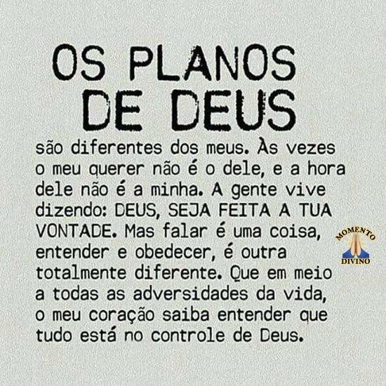 Os planos de Deus