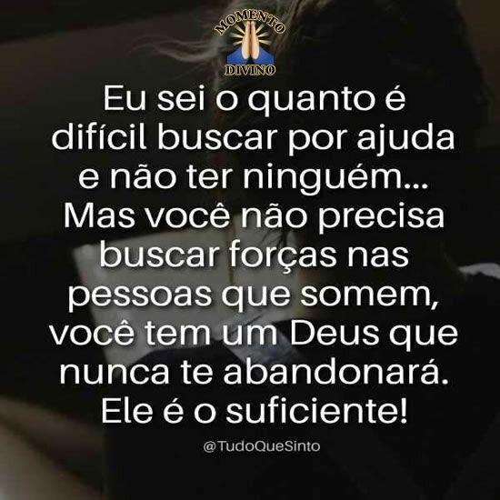 Deus nunca te abandonará
