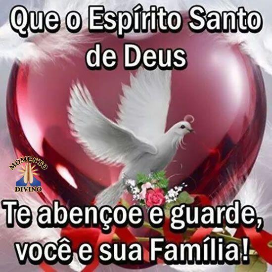 Que o Espírito Santo te abençoe