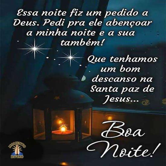 Boa noite na Santa paz de Jesus