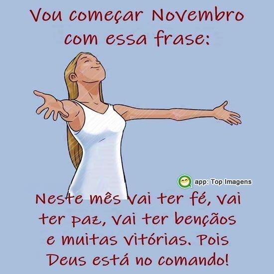 Novembro vai ter paz