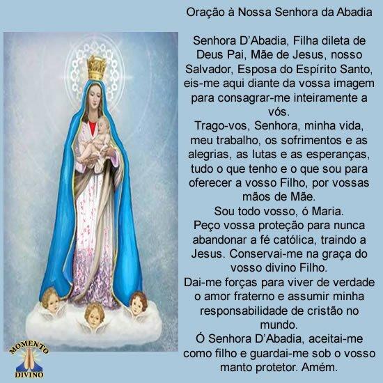 Oração à Nossa Senhora da Abadia