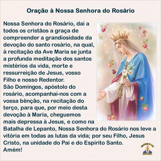 Oração à Nossa Senhora do Rosário