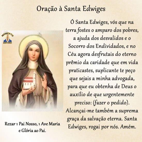 Oração à Santa Edwiges