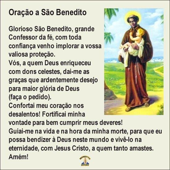 Oração a São Benedito