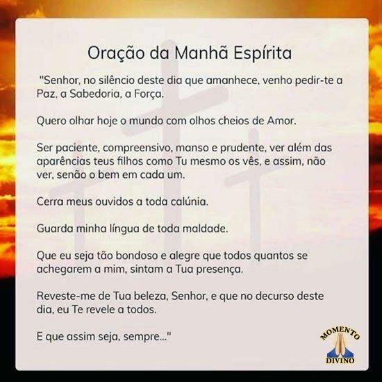 Oração da Manhã Espírita