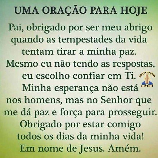 Oração para hoje