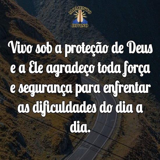 Vivo sob a proteção de Deus