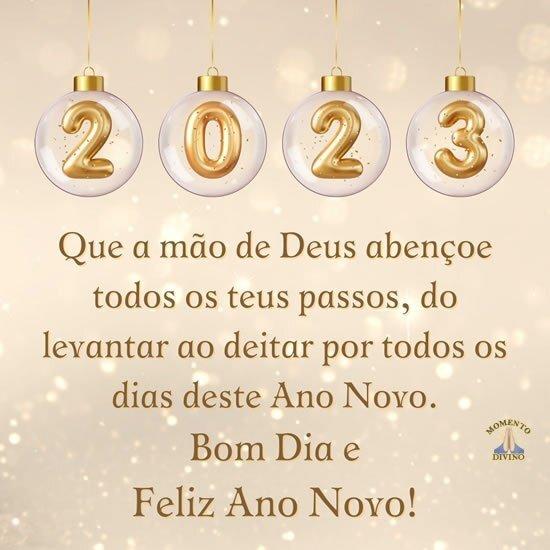 Bom dia de Ano Novo