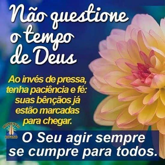 Não questione o tempo de Deus
